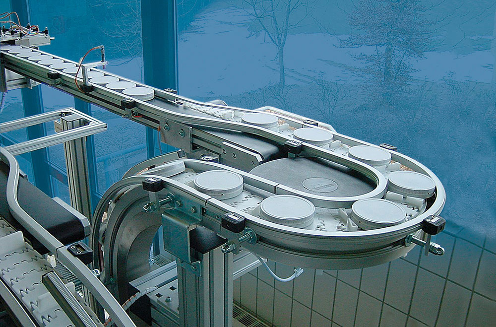 Vertical and horizontal transport: Conveyor lengths up to 30 metres
